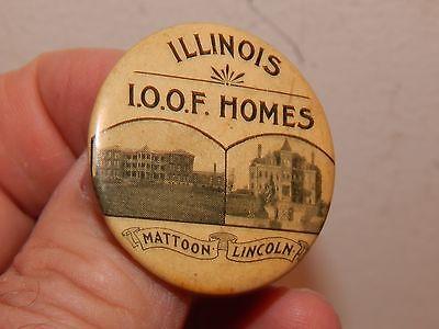 Scarce-Vintage-Odd-Fellows-Pin-Illinois-Homes