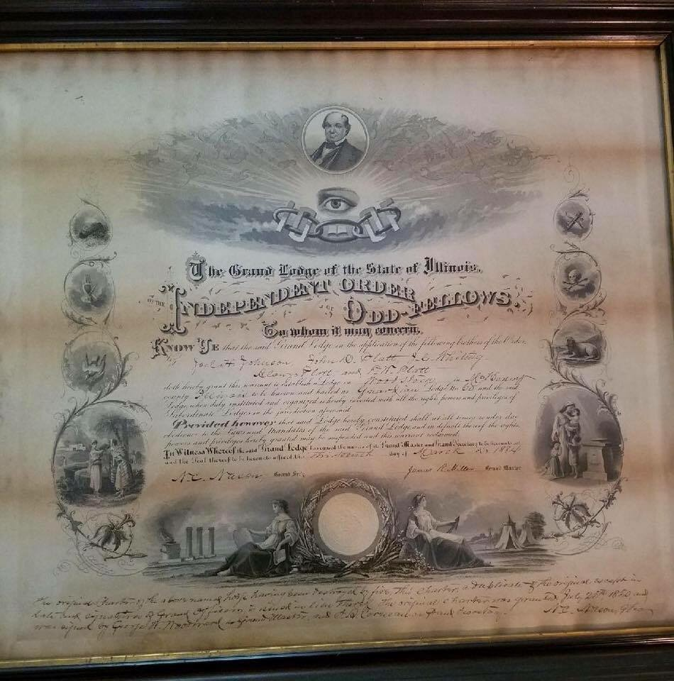 Grand lodge of illinois ioof independent order of odd fellows dec 2nd guardian lodge 60 reinstitution biocorpaavc Image collections